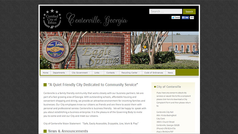 City of Centerville Website