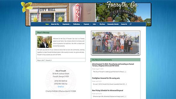 City of Forsyth Website Image