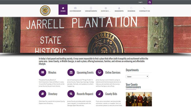 Jones County Website Image