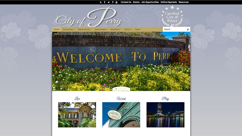 City of Perry Website Image