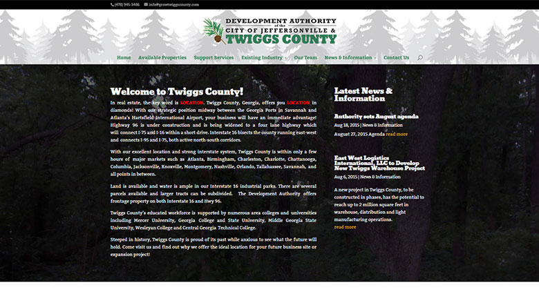 Twiggs County Development Authority Website