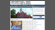 Jones County Clerk of Courts Website