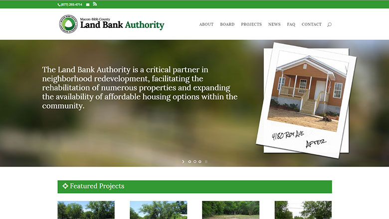 Macon Land Bank Website Image